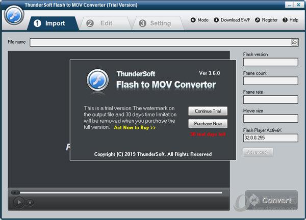 ThunderSoft Flash to MOV Converter破解版