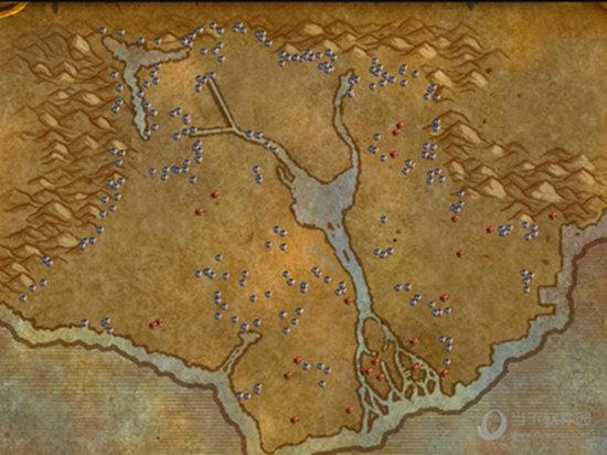 地图上就会显示所有可能的资源点位