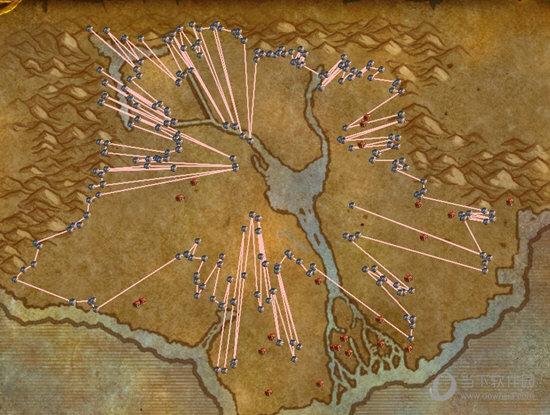 大地图上就会出现路线图