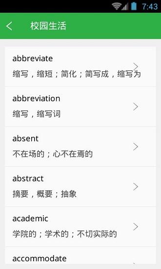 雅思单词轻松记 V3.5.2 安卓版截图1