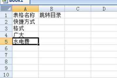 首先我们新建一个工作簿用来制作目录