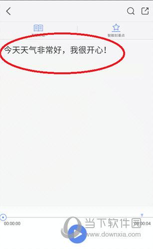 录音宝文字预览界面