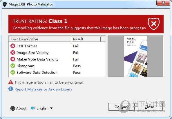 MagicEXIF Photo Validator