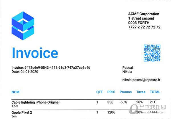 Light invoice