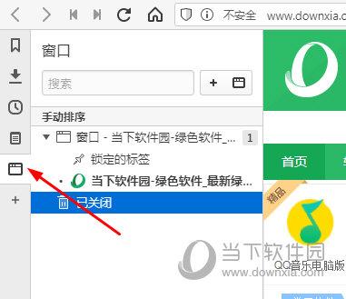 Vivaldi浏览器左侧窗口图标