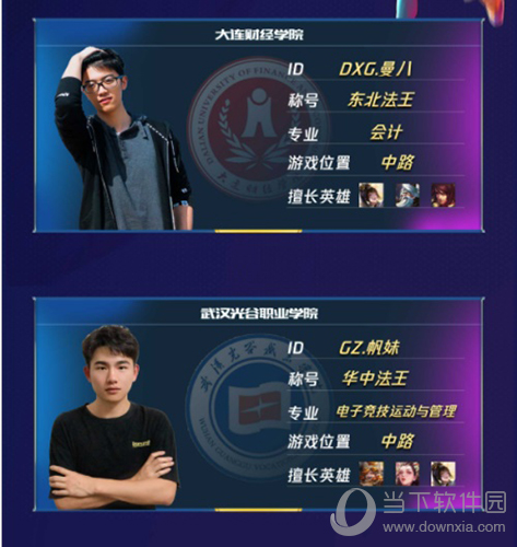 王者荣耀高校联赛总决赛选手介绍图1