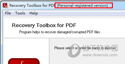 Recovery Toolbox for PDF破解版