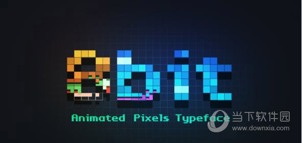 8bit Animated Pixels Typeface