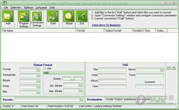 4Musics CDA to MP3 Converter