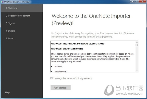 OneNote importer