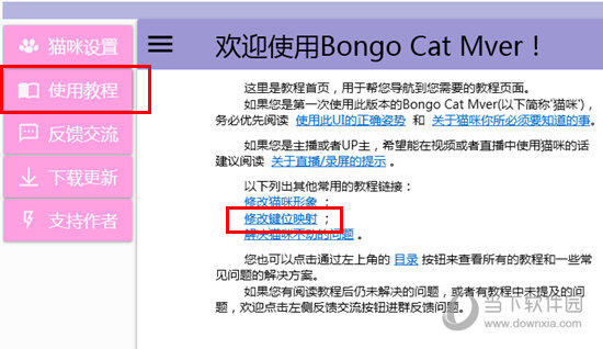 Bongo Cat Mver修改键位映射