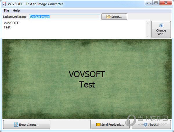 VovSoft Text to Image Converter