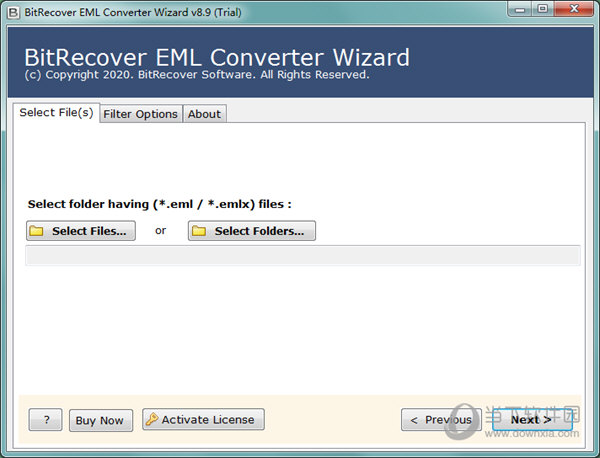 BitRecover EML Converter Wizard