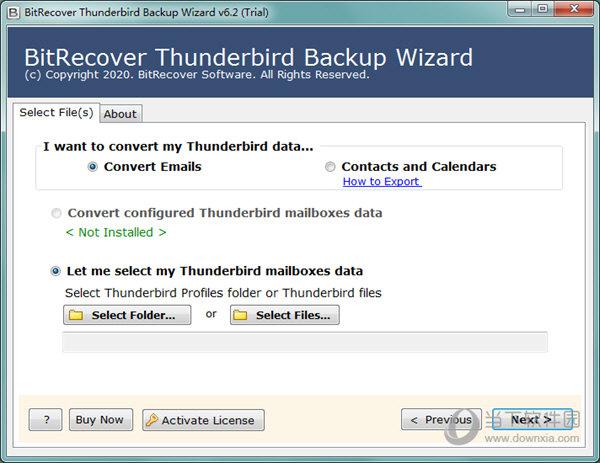 BitRecover Thunderbird Backup Wizard