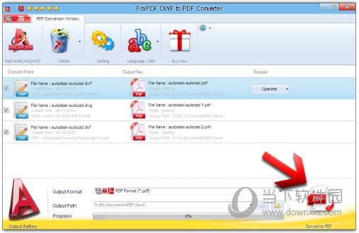 FoxPDF DWF to PDF Converter