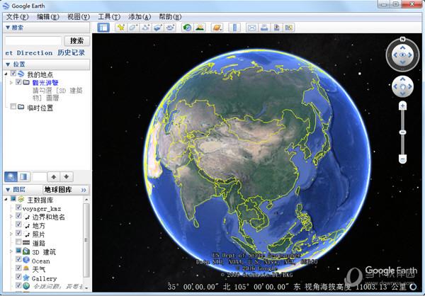 谷歌三维地图卫星地图实景地图