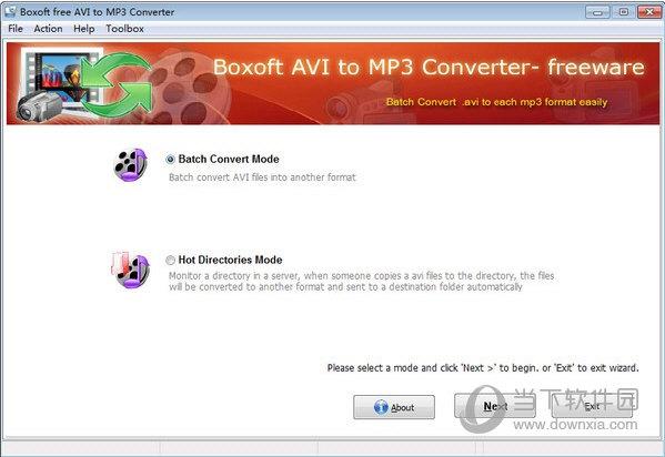 Boxoft free AVI to MP3 Converter