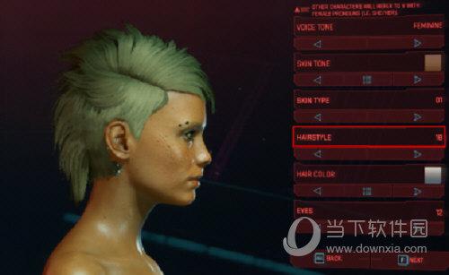 赛博朋克2077混乱精灵发型MOD