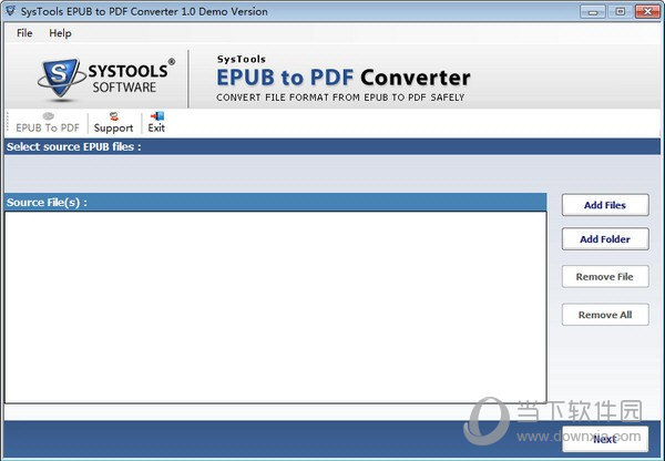 SysTools EPUB to PDF Converter