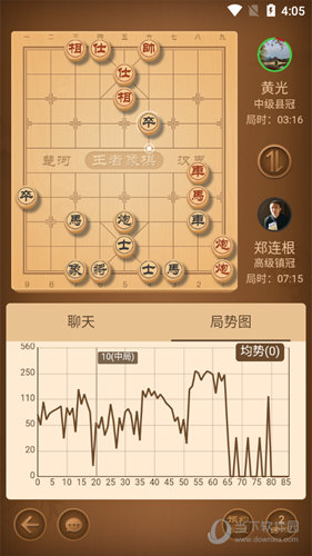 王者象棋对局页面