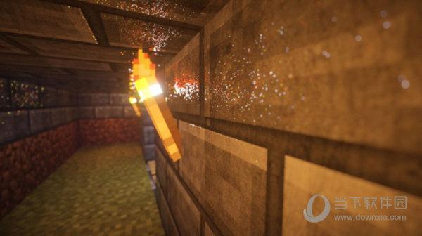 我的世界realistico材质包火把墙面