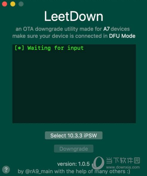 leetdown a7降级工具