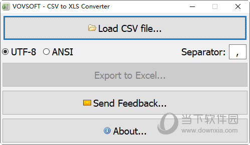 VOVSOFT CSV to XLS Converter