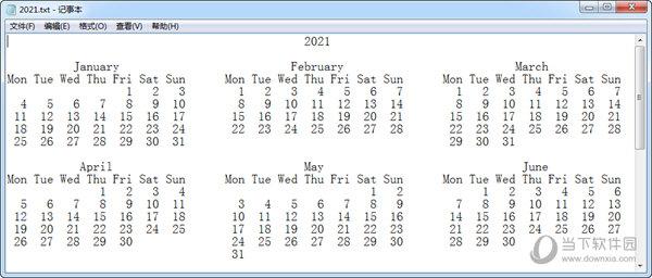 日历打印器